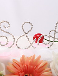 Cake Topper Classic Couple / Monogram Wedding / Bridal Shower / Quinceañera & Sweet Sixteen / Anniversary / Birthday RhinestoneGarden