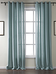 AnTi™ Two Panels Grommet Top  Classic Solid Curtain Drape