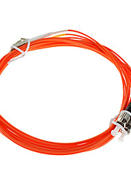 FIBER OPTIC Cable, LC/ST-UPC, Multi Mode, Duplex - 3 meter (62.5/125 Type)
