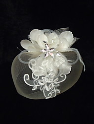 Women's Satin Rhinestone Imitation Pearl Net Headpiece-Special Occasion Fascinators