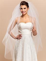 Hermosa velo de novia vals Cuatro niveles con el corte Edge