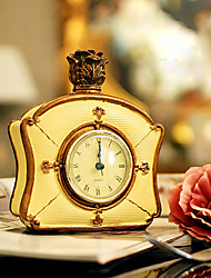 Classic Yellow Polyresin Table Clock
