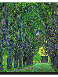 Tree-Lined Road Leading to the Manor House at Kammer, Upper Austria, 1912 by Claude Monet Famous Stretched Canvas Print