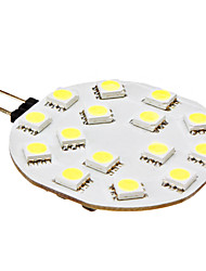 G4 2.5 W 15 SMD 5050 210 LM Natural White Bi-pin Lights DC 12 V