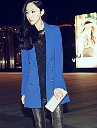 Women's Blazer , Work Long Sleeve Spandex/Polyester