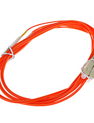 FIBER OPTIC Cable, LC/SC-UPC, Multi Mode, Duplex - 3 meter (62.5/125 Type)