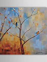 Hand Painted Oil Painting Botanical Tree and Bird 1305-FL0129