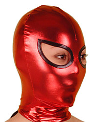 Mask Ninja Zentai Cosplay Costumes Red / Black Solid Mask Shiny Metallic Unisex Halloween / Christmas