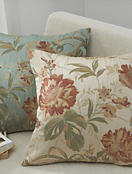 Polyester Housse de coussin , Floral Traditionnel