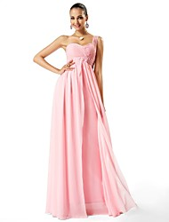 Formal Evening/Prom/Military Ball Dress - Blushing Pink Plus Sizes Sheath/Column One Shoulder/Sweetheart Floor-length Chiffon