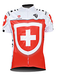 Kooplus Maglia da ciclismo Per uomo Manica corta Bicicletta Maglietta/Maglia Top Zip impermeabile Zip anteriore Indossabile Traspirante