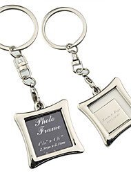 Personalized Square Photo Frame Key Ring (Set of 6)