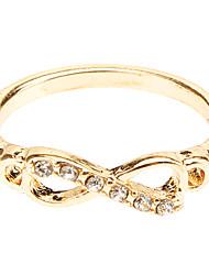 Anéis Festa Casual Jóias Liga Feminino Anéis Grossos 1peça,8 Dourado Prateado