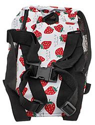6 Agujeros Tipo Fresas patrón Nylon Pet mochila de viaje para perros