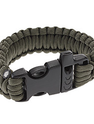 Para-Cord Survival Bracelet with Plastic Connection Buckle C (5 Colors)