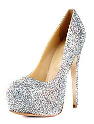 Spring Summer Fall Platform Wedding Stiletto Heel Platform Rhinestone Multi-color