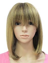 Capless 100 % Human Hair Hair Mixed Color Long Wavy Hair Wig