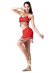 Dancewear Satin barriga roupa de dança para senhoras mais cores