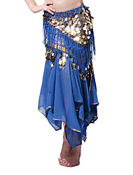 Dancewear Chiffon with Coins Belly Dance Skirt For Ladies More Colors