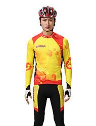 MYSENLAN PN сетка + Flex Материал длинным рукавом быстросохнущие Костюмы Велоспорт (желтый, красный)