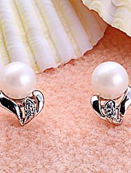 HANAZO 925 Natural Pearl Ohrringe