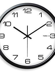 Classic Negro metal reloj de pared