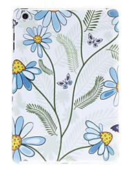 fleur bleue et motif papillon étui rigide pour Mini iPad 3, iPad Mini 2, Mini iPad