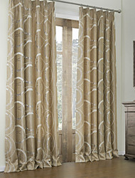 (Two Panels) Rococo Linen Jacquard Curve Energy Saving Curtain