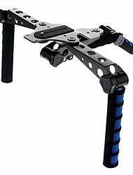 DSLR Rig Multi-functional Shoulder Mount for Camera and Camcorder (Gray)
