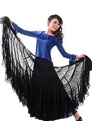 Ropa de moda viscosa moderna danza de la falda para las señoras