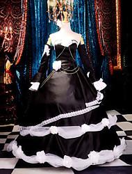 Inspiriert von Vocaloid Kagamine Rin Video Spiel Cosplay Kostüme Cosplay Kostüme / Kleider Patchwork Schwarz ÄrmellosKleid /