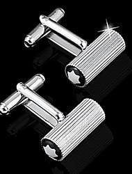 Gift Groomsman Simlpe Cylinder Cufflinks