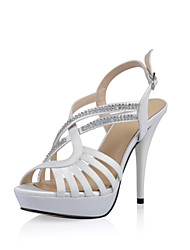 Women's Wedding Shoes Heels/Platform Sandals Wedding/Office & Career/Party & Evening/Dress Black/Red/White