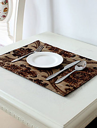 Chocolate Poly / Cotton Blend Rectangular Placemats