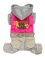 Dog Hoodie Red / Blue Winter Jeans