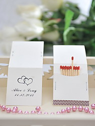 Wedding Décor Personalized Matchbooks - Black Hearts (Set of 25)