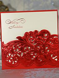 Convite do casamento Cut-out muito floral (conjunto de 50)