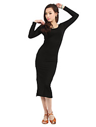 Dancewear Cotton Latin Dance Dress For Ladies