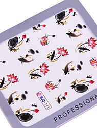 5PCS DIY casamento água de transferência de impressão Nail Stickers ópera chinesa