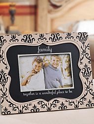 Retro Style Family Together Floral Pattern Picture Frame