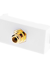 One RCA Component Two-Piece Inset Wall Plate - Welding Module (Gold Plated)