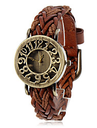 Women's Watch Bohemian Hollow Dial Knitted Leather Band Cool Watches Unique Watches Fashion Watch Strap Watch