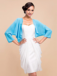 Nice 3/4 Sleeve Chiffon Evening/Wedding Wrap/Evening Jacket (More Colors) Bolero Shrug