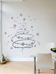 Flocons de neige de Noël Wall Sticker