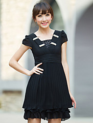 Women's Beaded Ruffle Pleated Dress