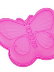 La mariposa formó la torta del silicón