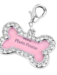 Dog tags High-end Bone Shape Style Diamante Pet Tag for Dogs (3.5cm)