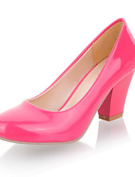 Lackleder Chunky Heel Pumps Party / Abend Schuhe (weitere Farben)