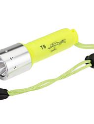 Lanternas LED / Lanternas de Mergulho / Lanternas de Mão (Prova-de-Água / Recarregável) - LED 1 Modo 1000 Lumens Cree XM-L T6 - para