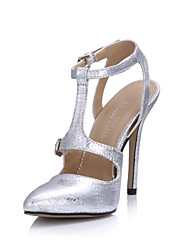 Women's Wedding Shoes Slingback Sandals Wedding/Dress Silver